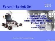 IBM ThinkPad TXX - Forum Schloss Ort Gmunden