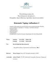 Flyer und Anmeldeformular Taping Aufbaukurs 2 2012 1 - Moritz Klinik