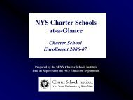 A Look at State-wide Charter - Newyorkcharters.org