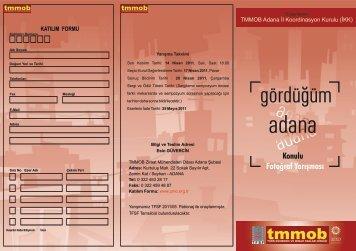 Fotoğraf Yarışması Broşür ve Katılım Formu