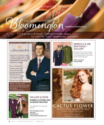 Download Boutiques Here! - Bloom Magazine