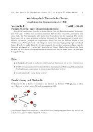Versuch 11 T:2011-06-28 Femtochemie und Quantenkontrolle