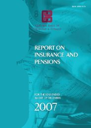 Report on Insurance and Pensions 2007 - Central Bank of Trinidad ...