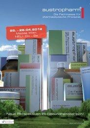 Neue Perspektiven im Gesundheitsbereich! - austropharm 2012