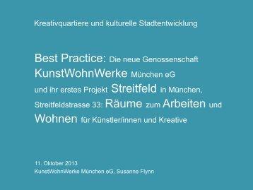 Best Practice Vortrag KunstWohnWerke München - Popoffice