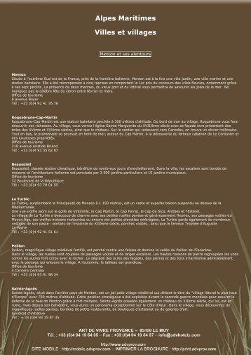 Pour en savoir plus, cliques ici (Lien PDF) - art de vivre provence