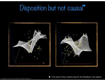 Disposition but not causal* - Cognitive Edge
