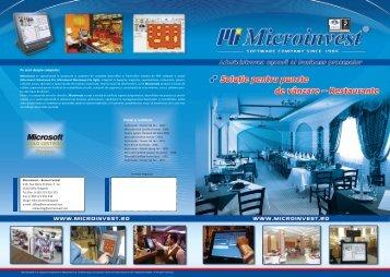 Premii și certificate Pe scurt despre companie: - Microinvest