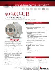 40/40U-UB - UV Flame Detector - Spectrex Inc.