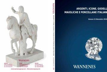 argenti, icone, gioielli, maioliche e porcellane italiane - wannenes