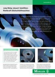 Relay steuert Satelliten- fliehkraft-Gleitschleifmaschine - Moeller