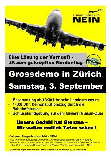 Flyer - STOPP den Südanflügen über Zürich!