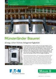 Münsterländer Brauerei - xEnergy sichert höchste - Moeller