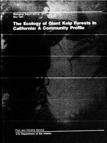 The ecology of giant kelp forests in California - USGS National ...