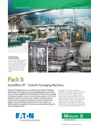 Pack it: SmartWire-DT controls packaging machines - Moeller