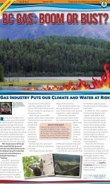BC Gas: Boom or Bust? - Wilderness Committee