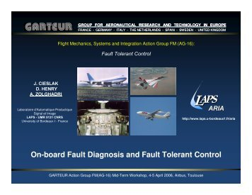 On-board Fault Diagnosis and Fault Tolerant Control - IMS