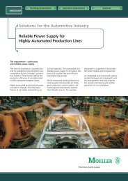 Solutions for the Automotive Industry - Moeller