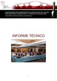 INFORME TÉCNICO - Fundación para la Cultura del Vino