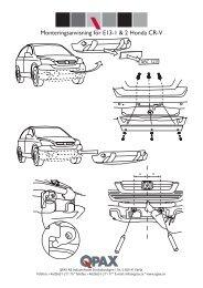 Monteringsanvisning för E13-1 & 2 Honda CR-V - Off-Road-Light.RU