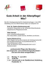 Gute Arbeit in der Altenpflege! Wie? - ver.di | Rhein-Neckar