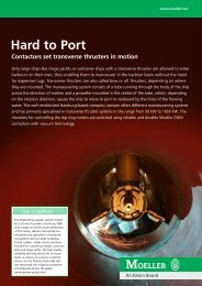 Hard to Port Contactors set transverse thrusters in motion - Moeller