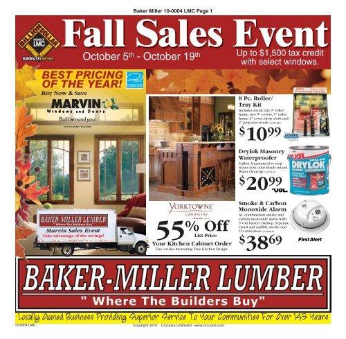 3869 Fall Sales Event - Baker-Miller Lumber