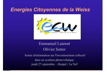 Energies Citoyennes de la Weiss - Photovoltaïque.info