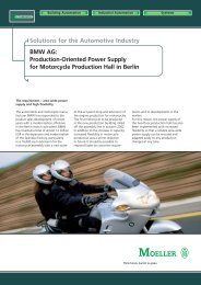 BMW AG: Production-Oriented Power Supply for Motorcycle - Moeller