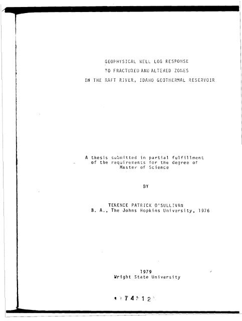 A Thesis Submitted In Partial Fulfillment Of The Requirements For The ...