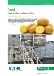 Food - Three-Belt Dryer for Potato Drying - Moeller