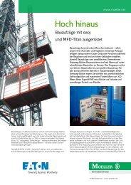Hoch hinaus - Bauaufzüge mit easy und MFD-Titan - Moeller