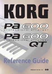 ALL:USA_Pa600 Reference Guide v100 (English).pdf - Korg