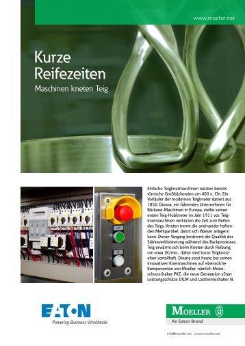 Referenz Diosna: Kurze Reifezeiten, Maschinen kneten Teig - Moeller