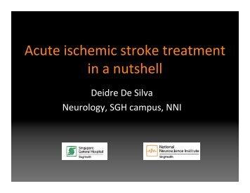 Acute ischemic stroke treatment in a nutshell