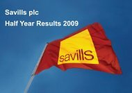 Savills plc Half Year Results 2009 - Investor relations