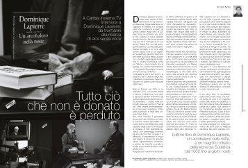 Tutto ciò che non è donato è perduto di Dani Noris - Caritas Ticino