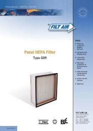 Panel HEPA Filter TYPE G09 - tebaf