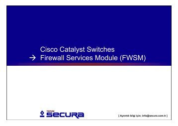 Cisco Catalyst Switches Firewall Services Module, TEPUM Secura