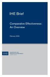 Comparative Effectiveness - Institute of Health Economics