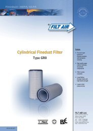 Cylindrical Fine Dust Filter TYPE GR0 - tebaf