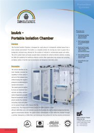 IsoArk - Portable Isolation Chamber - tebaf