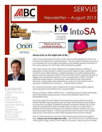 ABC Newsletter August 2013 - Austrian Business Chamber