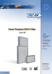 Panel File Dust&HEPA Filter TYPE GP - tebaf
