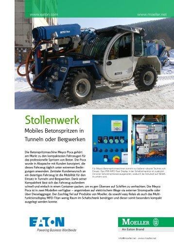 Mobiles Betonspritzen in Tunneln und Bergwerken - Moeller