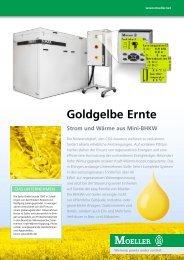 Goldgelbe Ernte - Strom und Wärme aus Mini-BHKW - Moeller