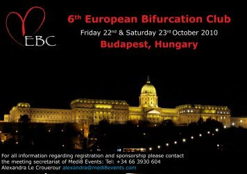 6th European Bifurcation Club - Bifurc.net