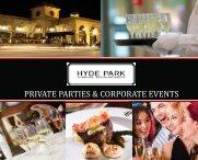 private parties & corporate events - Hyde Park Restaurants