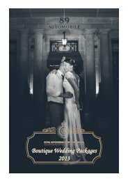 Boutique Wedding Packages 2013 - Royal Automobile Club of ...