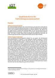 Qualitätskriterien für Entwicklungszusammenarbeit - Globale ...